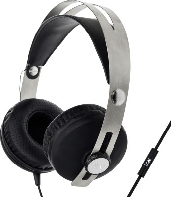 boAt BassHeads 800 Stereo Wired Headset With Mic(Carbon Black)