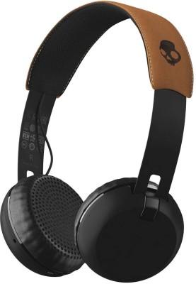 Skullcandy S5GBW-J543 Grind Wireless Bluetooth Headset With Mic(Black Tan)