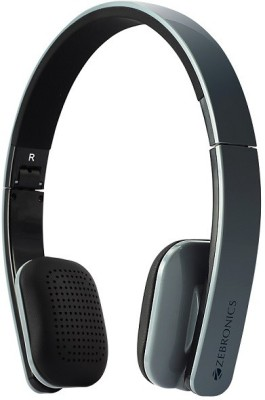 Zebronics Happy Head Grey Wireless Bluetooth Headset