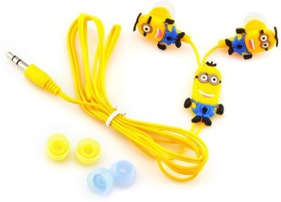 A Connect Z Cartoon Design Minions Ear Clarity Quality sound Headst - 280 Wired Headset With Mic(Yellow)