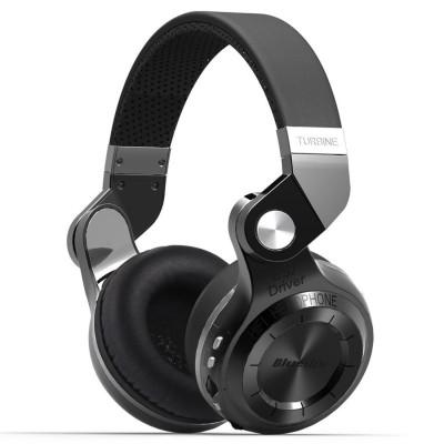 Bluedio T2 Plus Bluetooth Headphone - Black Wired & Wireless Bluetooth Headset
