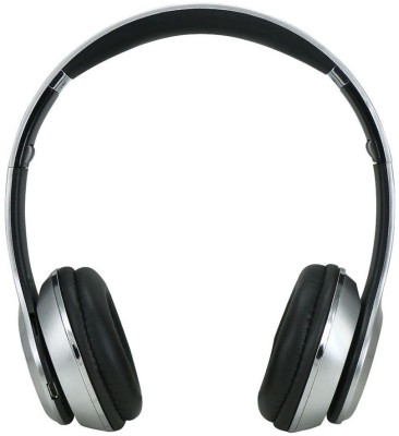 Mesta s460 Wireless Wired & Wireless Bluetooth Headset With Mic(Silver)