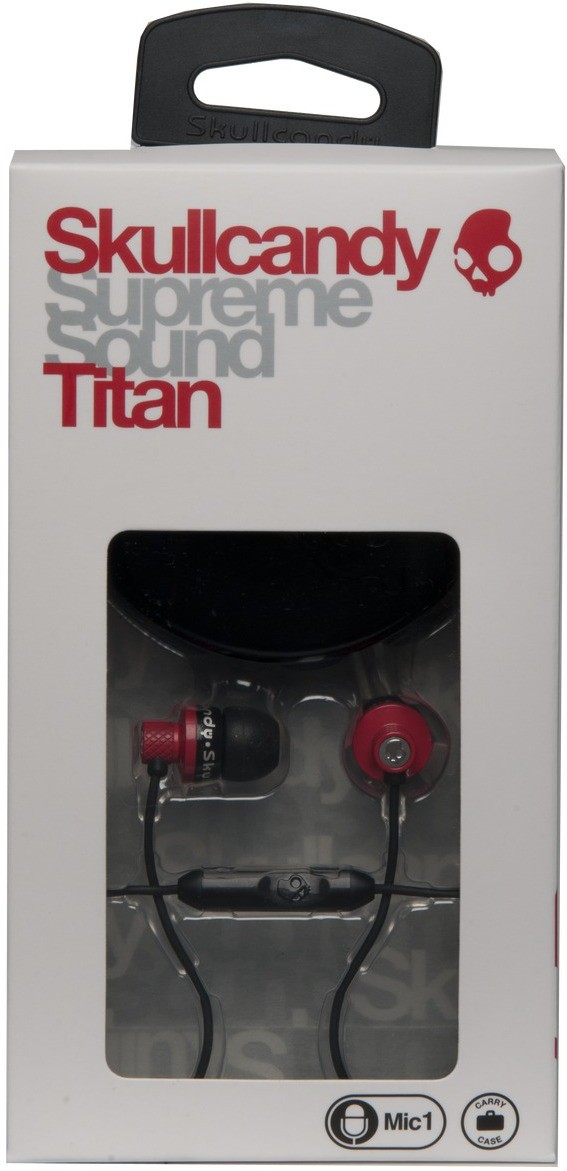 Skullcandy S2TTDY-206 Wired Headset With Mic(Red)