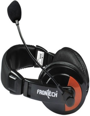 Frontech JIL-3442 Wired Headset With Mic(Black, Red)