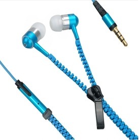 YND Zipper Handfree For HTC Explorer - Blue Wired Headset