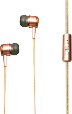LatestTrend Aroma Fragrance Canalphone Handsfree For Micromax Funbook Duo P310 - MOD-7621 Wired Headset With Mic(Gold)