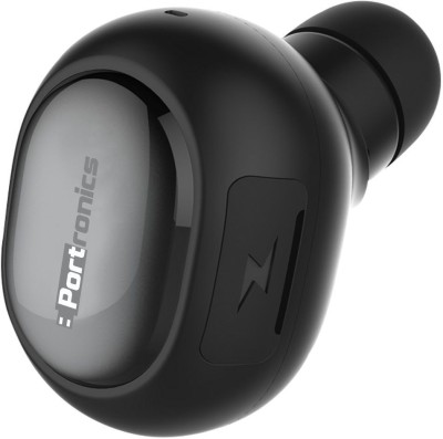 Portronics POR-683 Harmonics Talky Mini Wireless Bluetooth Headset With Mic(Black)
