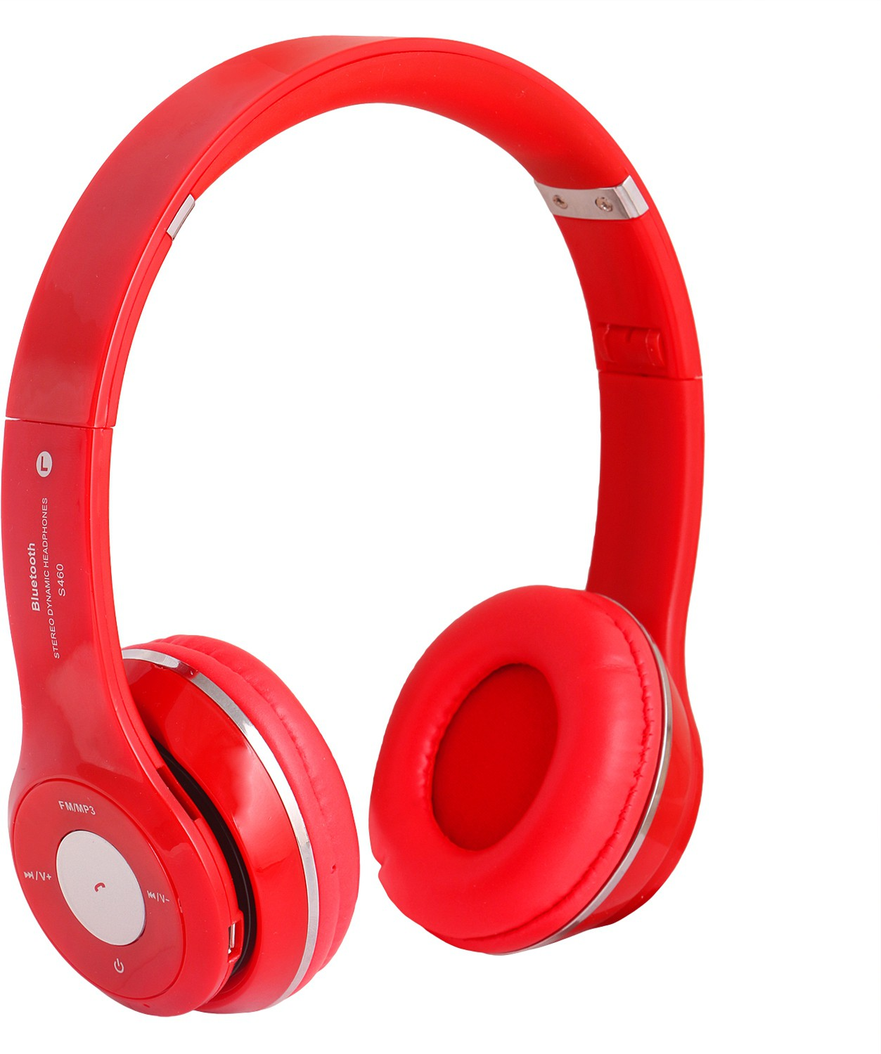 REJUVENATE S460 WIRED & WIRELESS WITH TF CARD SUPPORT Wired & Wireless Bluetooth Gaming Headset With Mic(Red)