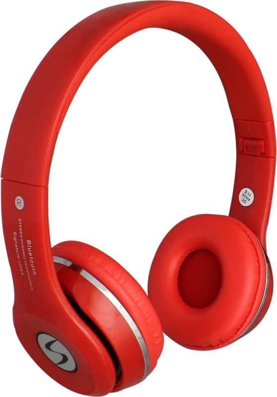 Signature VMB-4 HD Sound Wireless Bluetooth Headset With Mic(Red)