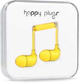 Happy Plugs 7719 Wired Headset With Mic(Yellow)