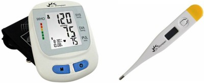 Dr. morepen BP-09 Bp Monitor + MT-101 Digi Classic Thermometer Health Care Appliance Combo