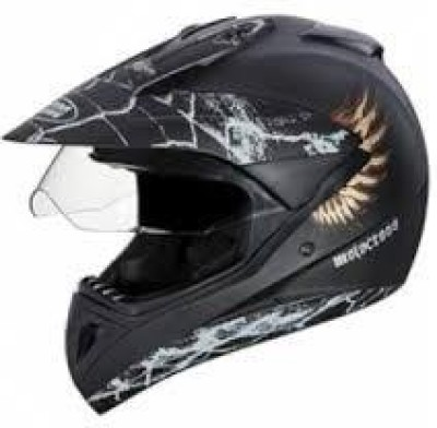 Studds Motorcross with visor D4 Matt Black N4 Helmet Visor