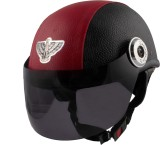 MP BLK-122 Helmet Visor (Red, Black)