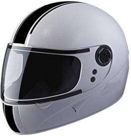 CRAZY WHITE E1 Motorbike Helmet - L