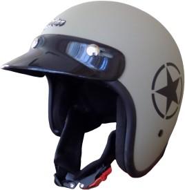 Anokhe Collections Retro JetStar Styled Motorbike Helmet - L