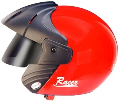Formulate Racer Bright Red Motorbike Helmet - M