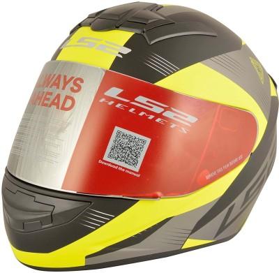 LS2 LS2 FF352 Trooper Black Yellow Full Face Helmet Motorbike Helmet - L(Black, Yellow)