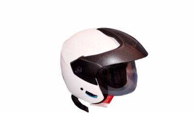 Aeroh S9-White Motorbike Helmet - M(White)