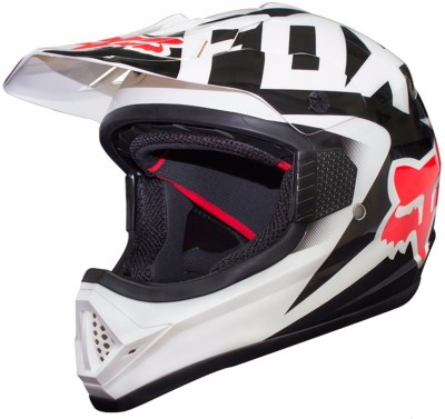 Fox Racing White Motorsports Helmet - M