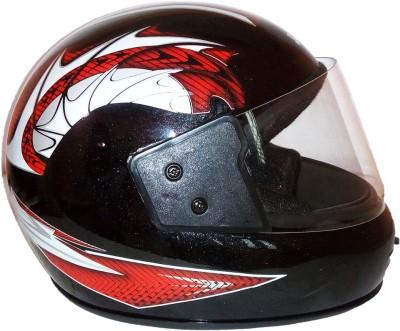 Pik-Up Full Face Printed Motorbike Helmet - M