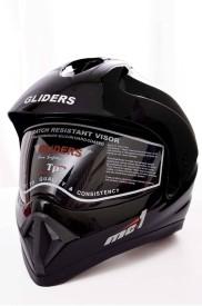 Gliders MC1 Plain Motorbike Helmet - L