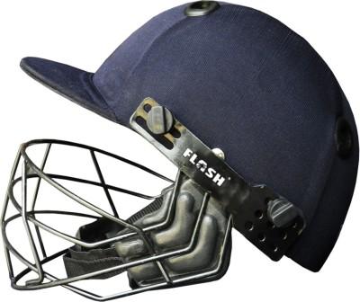 Flash perfect Club PP with cross Line Cricket Helmet - S(Blue, Black)
