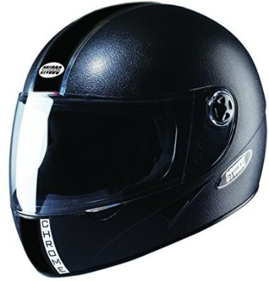 Studds Chrome Economy Motorbike Helmet - L(Black Plain)