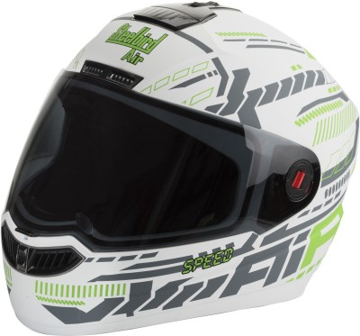Steelbird SBA-Speed Matte White & Green Motorbike Helmet - L