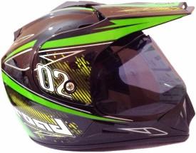 O2 Full Face Spors ISI Motorbike Helmet - M