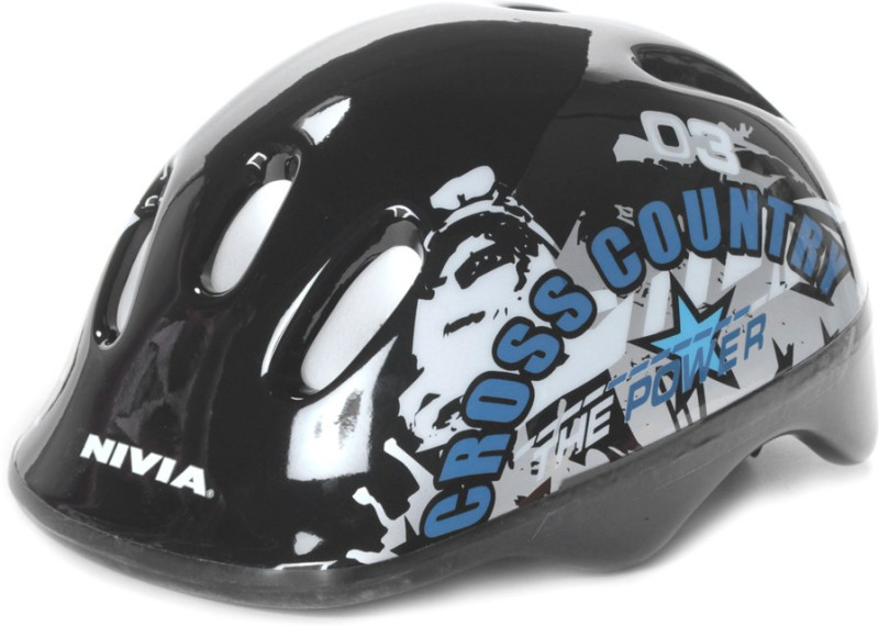 Nivia Cross Country Skating Helmet(Black, Silver)