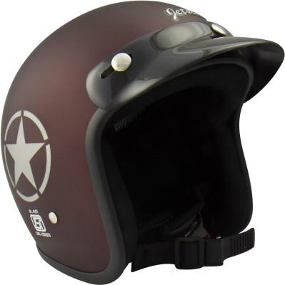 Anokhe Collections Retro Jetstar Style (ISI Certified) Motorbike Helmet - XL(Matte Maroon)