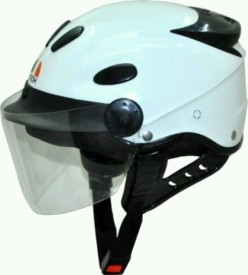 Aeroh urban white Motorbike Helmet - M