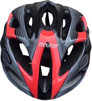 Cockatoo Black Red Cycling, Skating Helmet - L