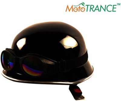 Mototrance Legend Royal German Style With Goggles Motorbike Helmet - L