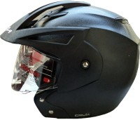 Vega Crux OF (Open Face) Motorbike Helmet - M(Black)