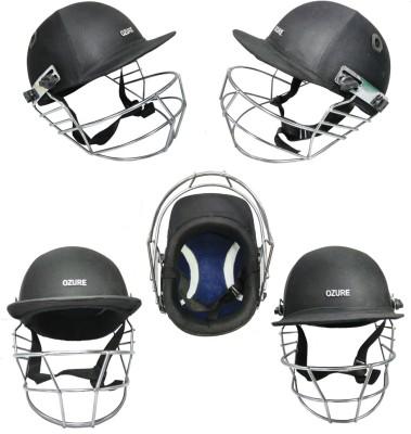 Ozure Armor Cricket Helmet - L(Black /Chrome) Cricket Helmet - L