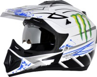 Vega Off Road Monster Motorsports Helmet - M(Blue, White)