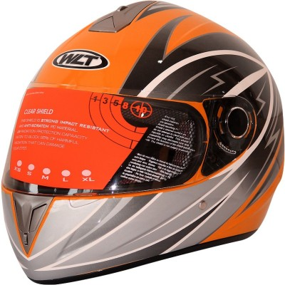 WLT 105 ORANGE SILVER Motorbike Helmet - XL