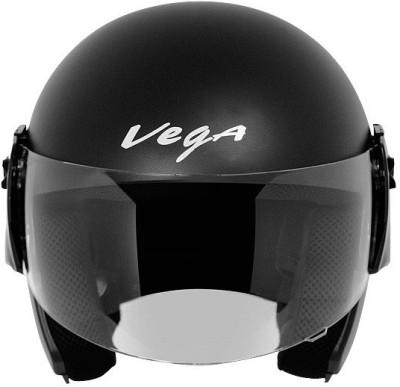 Vega Cruiser Dull Black Motorbike Helmet - M
