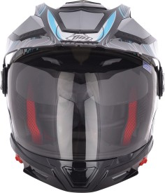 THH TS_45_WHITE_BLUE Motorbike Helmet - M