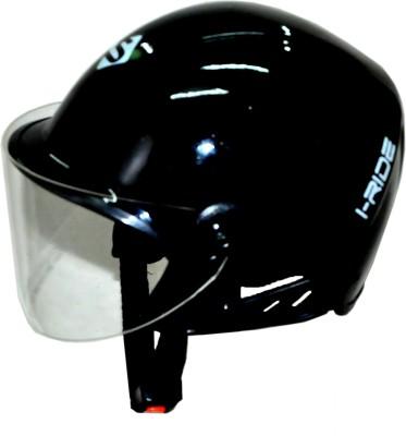 Saviour I-Ride Glossy Unisex Black Metallic - Clear Visor Motorbike Helmet(Black)