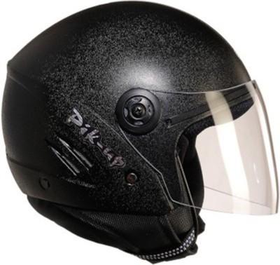 Pik-Up Half Face ISI (Black) Motorbike Helmet - M