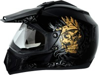 Vega Off Road Ranger Motorsports Helmet(Black Golden)