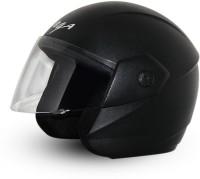 Vega Ridge Black Helmet Motorsports Helmet - M(Black)