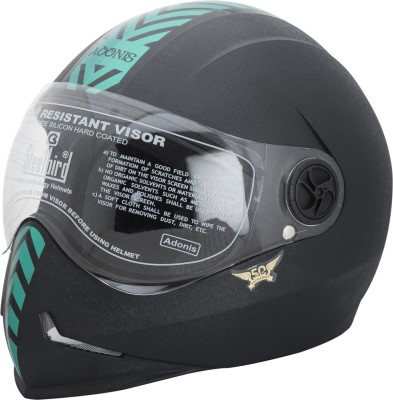 Steelbird Adonis Green Motorbike Helmet(Black)