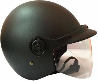 NXT Open Face ISI (Mate Black) Motorbike Helmet - M