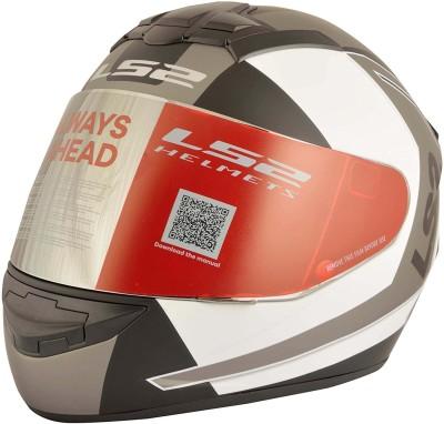 LS2 Sprint Motorbike Helmet - L(White, Grey)