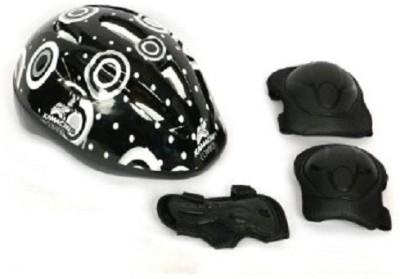 Kamachi Assorted Color Head Cap, Knee Guard , Elbow Guard , Hand Guard Skateboarding, Cycling Helmet - M