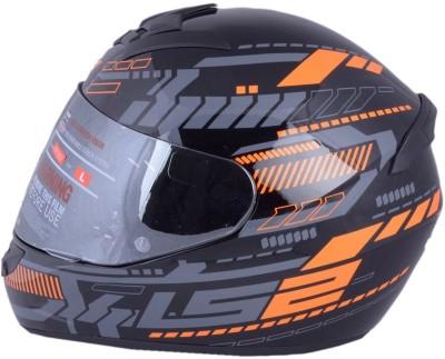 LS2 TRON BLACK ORANGE WITH MERCURY VISOR Motorbike Helmet - XL