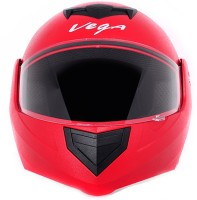 Vega Crux Motorbike Helmet - L(Red)